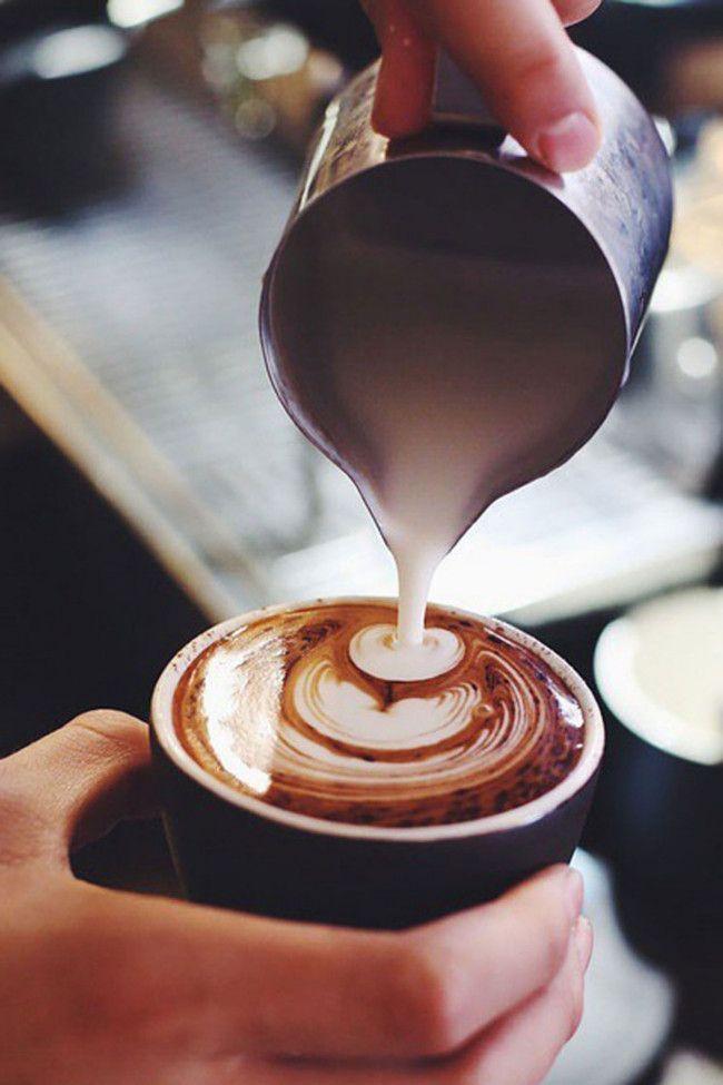 #Cappuccino. #Milchkaffee. #Kaffeekunst.