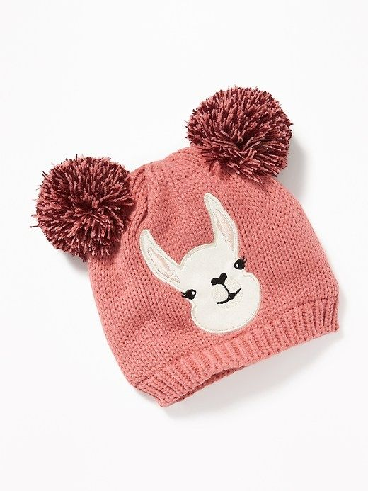 ea56ff253d6 Critter-Graphic Double Pom-Pom Beanie for Girls