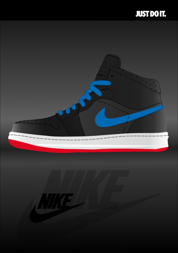 nike shoes vector for #disenobasico