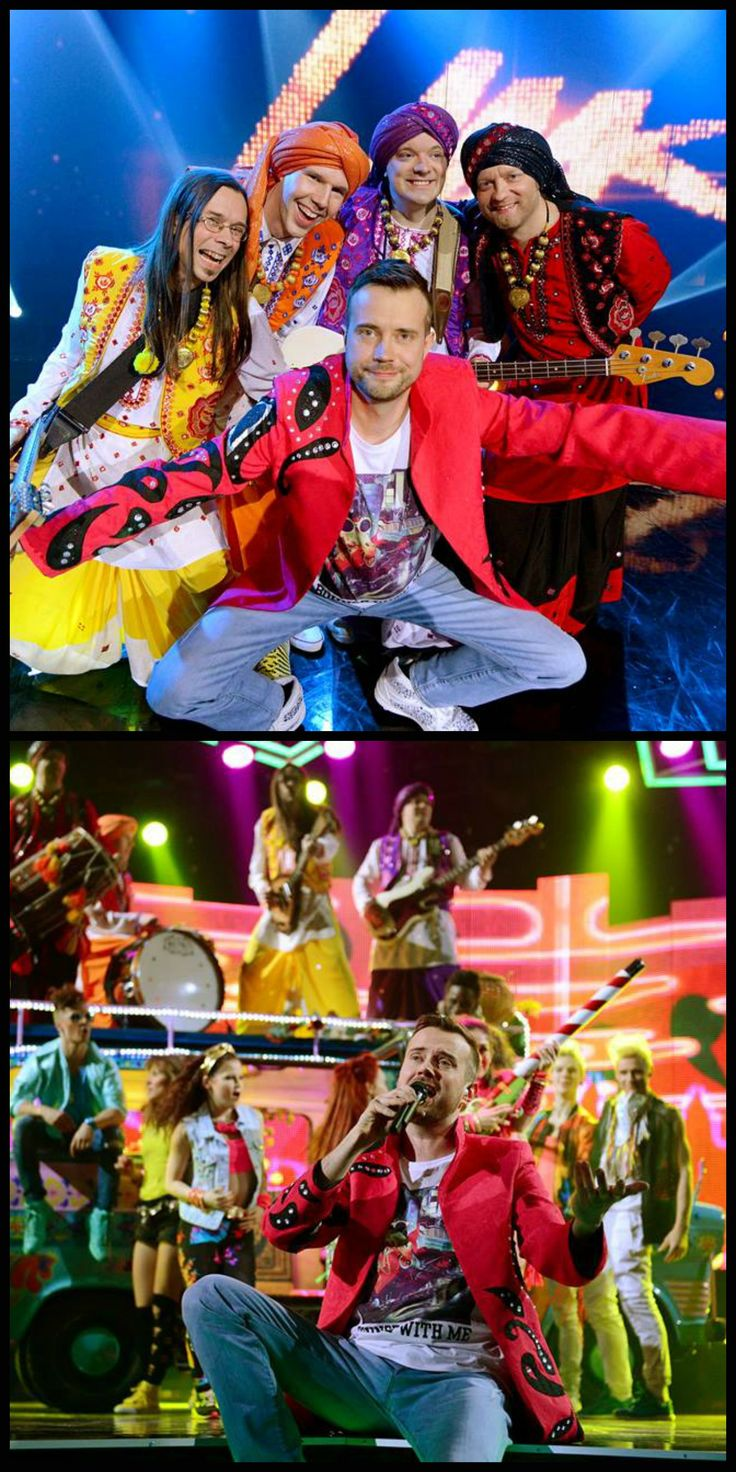 Finnish bhangra band called Shava in the Competition to represent Finland in the Eurovision song contest 2015. #UMK. Styling and Kiureli's (singer) jacket made by Jaana Bragge. Photos: Tiia Santavirta.