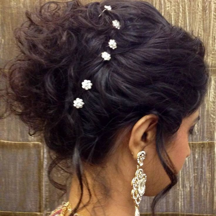 Indian bridal hairstyles, Indian bridal and Hair buns on Pinterest