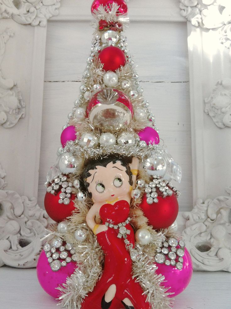 betty boop christmas ornament bottle brush tree vintage ornament rhinestone ebay - Ebay Christmas Trees
