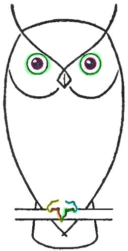 how to draw a screech owl step by step