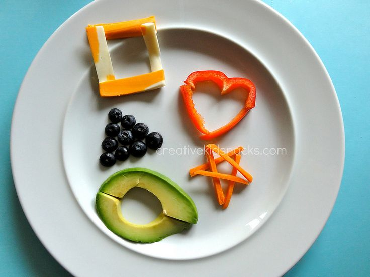 math activities for kids, shape snack
