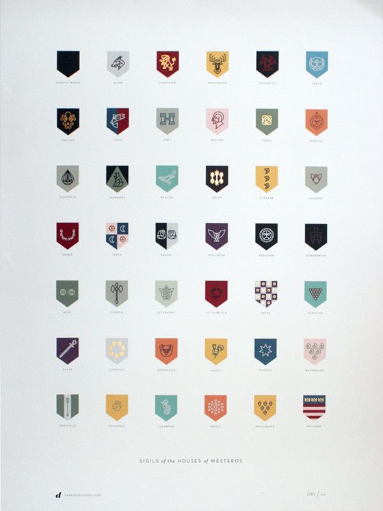 Sigils of the Houses of Westeros!: Thrones Houses, Picture-Black Posters, Games Of Thrones, Flats Icons, The Games, Westero Posters, Darrin Crescenzi, Nike Design, Darrincrescenzi