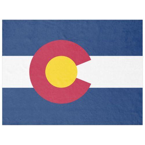 Patriotic State Flag of Colorado Fleece Blanket