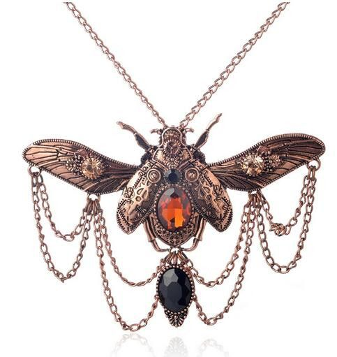 Beetle Steampunk Statement Necklace
