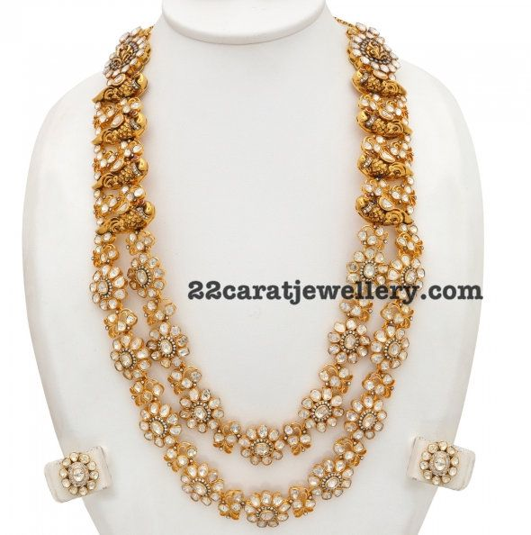 253 Grams Diamond Mala - Jewellery Designs