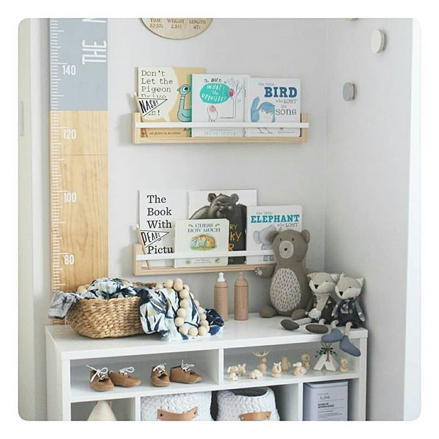 PROJECT INSPO // I really enjoy both learning and getting inspired from the beautiful rooms shared by many amazing mamas and designers out there! How great are all these rooms/displays? LOVE. . And what do all these stunning photos feature? ... (wall) bookshelves!  . Previously you'll see in my posts that I upcycled a bookshelf for him but I have decided to repurpose that in another room and make Ollie a new one . So I'll be pulling out the big guns (by that I mean tools) to try and create…