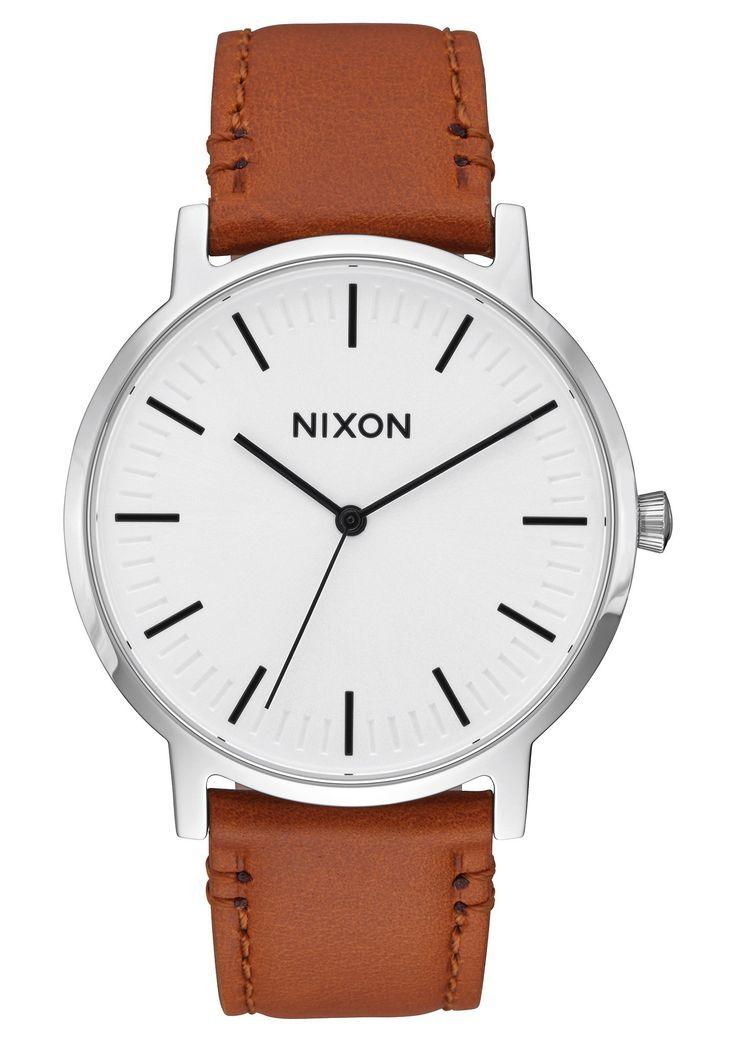 Nixon Porter Leather - White Sunray/Saddle