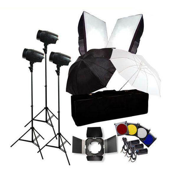 Photo Flash Kit 540W Photography Studio Strobe Light Umbrella Softbox #LusanaStudio