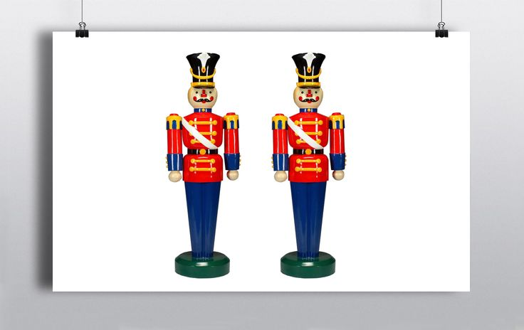 These Toy Soldiers are the perfect for creating a christmassy grand entrance into any venue or grotto. They are sure to capture the attention and imagination of guests & passers-by alike.  Size:  6ft in Height http://www.prophouse.ie/portfolio/toy-soldiers/