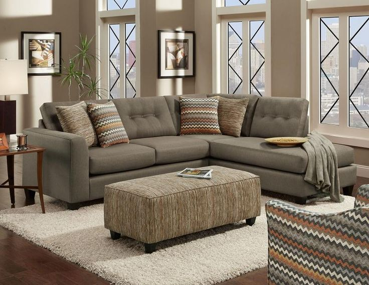 Fusion Furniture Fandago Flame Contemporary Sectional Sofa