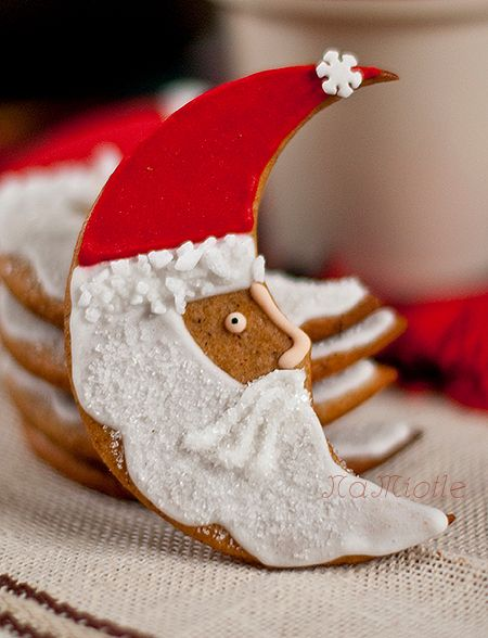 Santa-moon cookies.