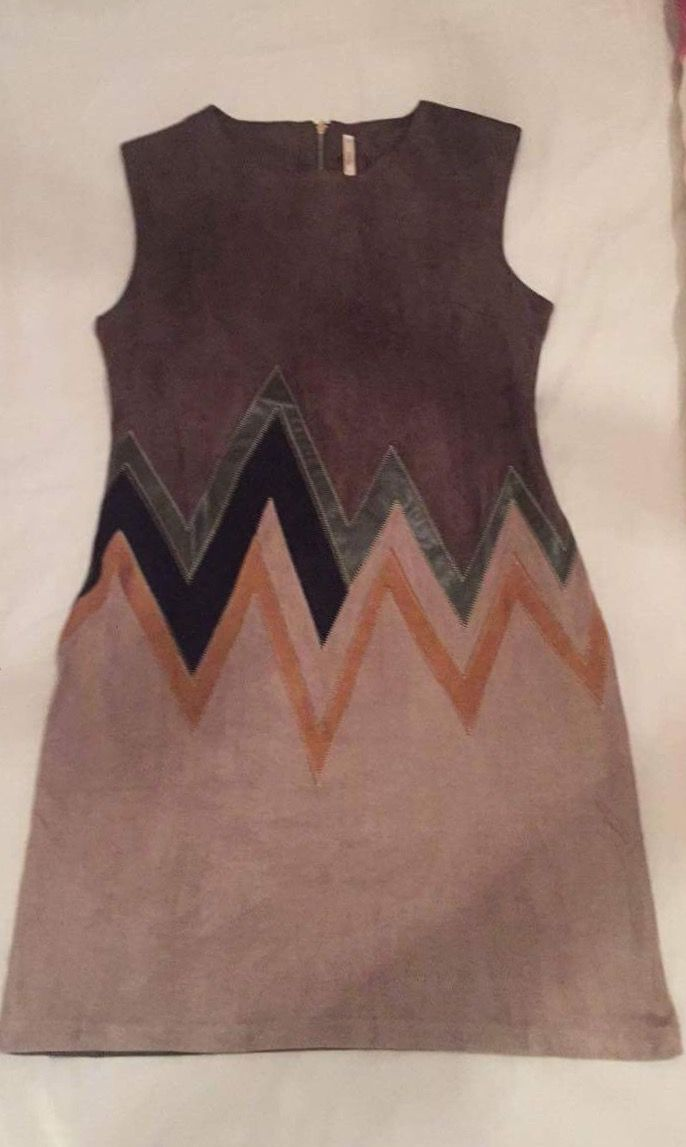 Suedette shift dress that's kinda vintage Aztec smart/hippy style, for wearing to my daughters 3rd birthday party this weekend! Will be accompanied by my gorgeous Karme of Charme boots that I sourced on here (thank you pinterest) rainbow fairy wings & a gold unicorn?! Yay! 😉💖🌈🦄💖🎈🎁💖