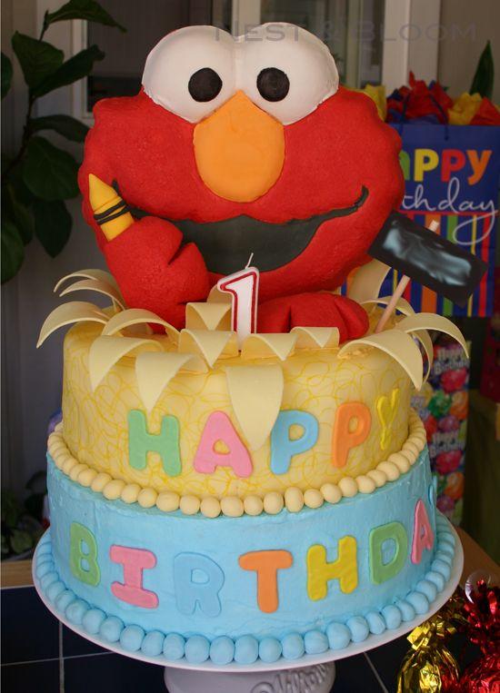 Happy Birthday Elmo Cake Beelduit