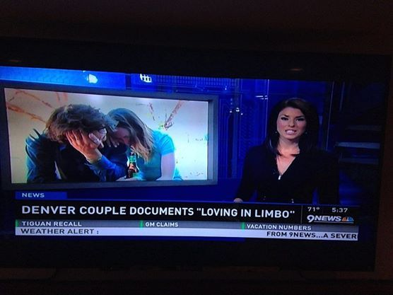 Hap and Mandy's fight to be together features on the news in U.S.A