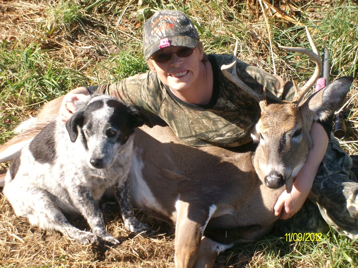 Me and Casper (best tracking dog ever) with my 6 pointer 2012 muzzleloader season VA