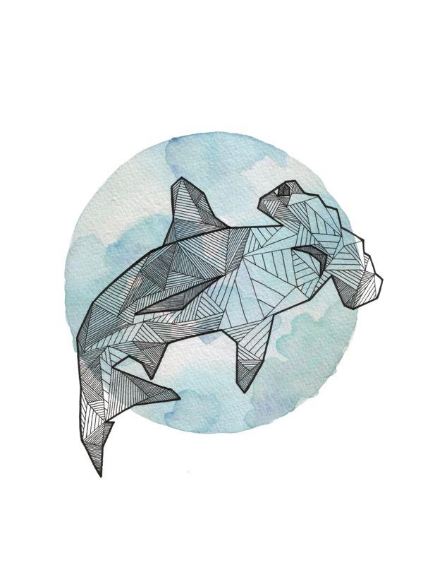 Geometric Animals by Allison Kunath, via Behance