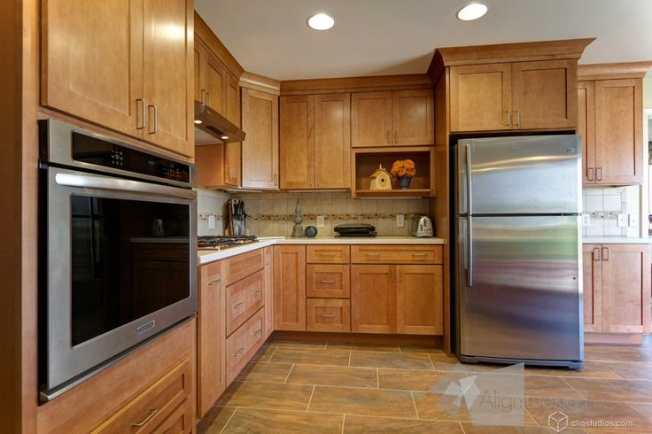 Dayton Maple Caramel Mission Kitchen Cabinets From Maple Kitchen Cabinets