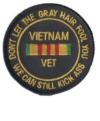 Vietnam Veteran Patch Collectible Iron-On High Quality Stitching