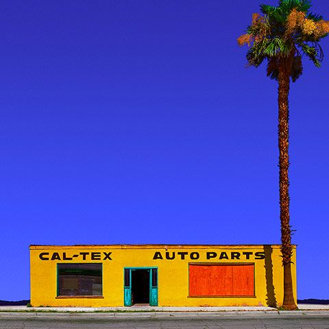 Credit: Ed Freeman <strong>Cal-Tex Auto Parts, Coachella, CA</strong><br/> 'This was the first one I took. There were people going in and out of this store all day long. Three years later it was torn down'