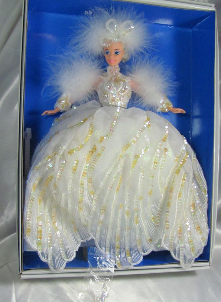 Snow Princess Barbie Enchanted Seasons Collection Vintage never removed from box #Mattel #DollswithClothingAccessories