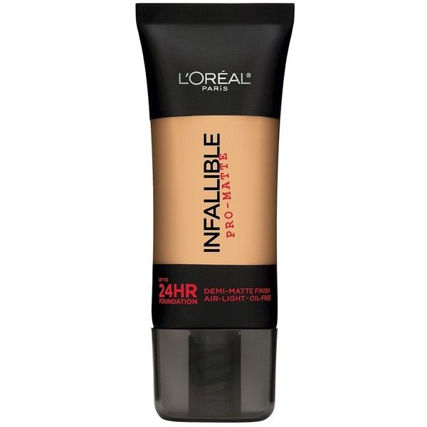 L'Oréal Paris Infallible Matte Foundation - Natural Beige ($12) ❤ liked on Polyvore featuring beauty products, makeup, face makeup, foundation, mattifying foundation, long wear foundation, l'oréal paris, matte foundation and matte finish foundation