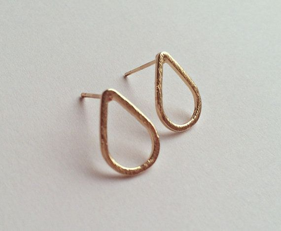 Ohrstecker gold Tropfen filigraner Schmuck round Earring