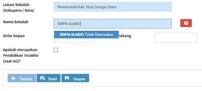 Nove Hasanah: PUPNS Sekolah Tidak Ditemukan pada Form Data Riway...