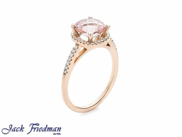 rose gold and morganite engagement ring with diamonds jackfriedman.co.za