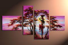 pinturas a oleo africanas - Pesquisa Google