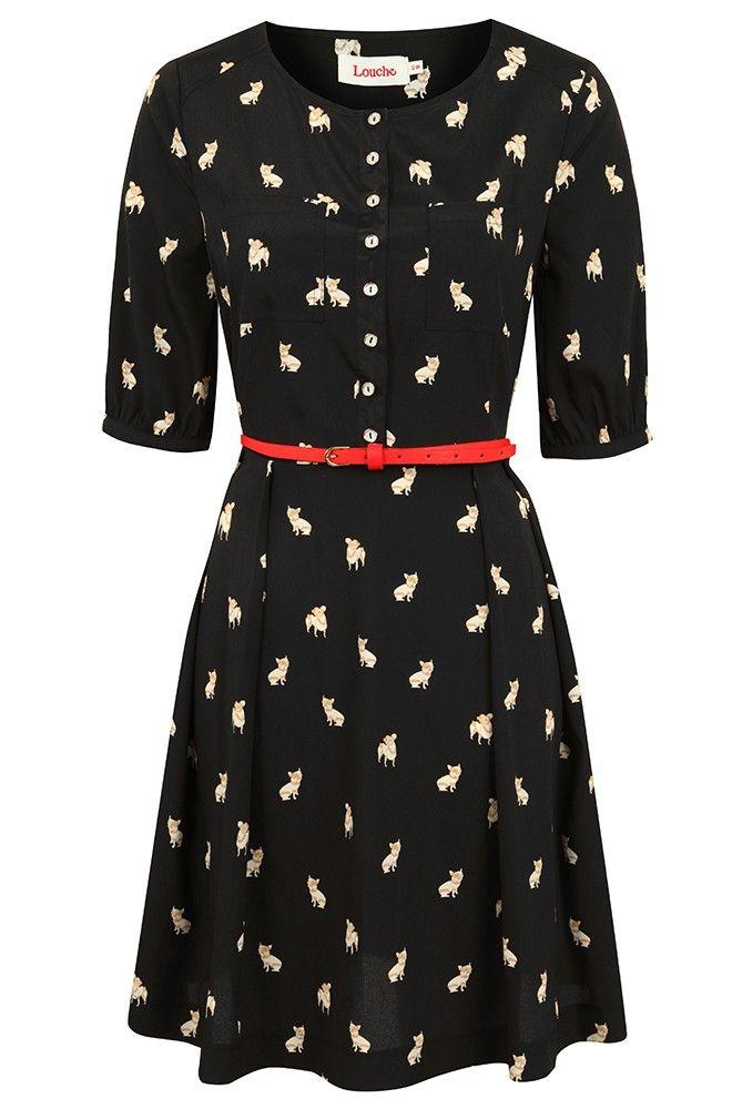 Cute!   Louche Catnna Frenchie Dress