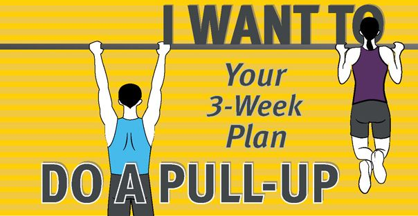 A 3 week workout plan to be able to do pull-ups!  Regardless of whether that's your goal or not, the workouts are great for upper body strength! Never have I ever done a pull up in my life!
