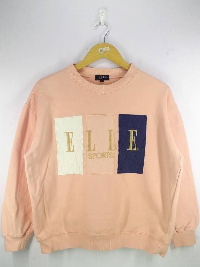 b02e66805b60 Vintage Elle Homme Paris Big Spell Out Embroidery Sweatshirt Jumper  Pullover Size Large Size US L   EU 52-54   3