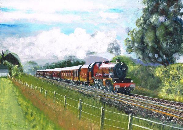 Royal Train Princess Elizabeth UK circa 2011 - Oil on MDF