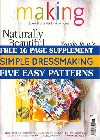 Making Magazine June 2013  Making Magazine is a UK monthly focussed on all the things we love to ma... $14.00 #makingmagazine