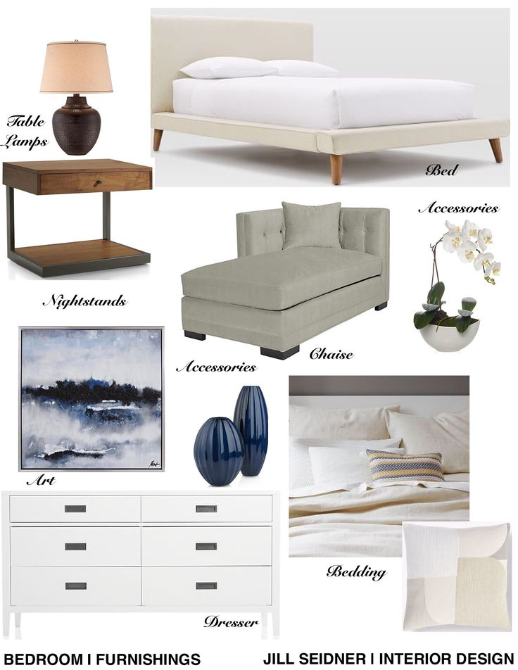 Lake Forest CA Residence Master Bedroom Furnishings Concept Board InteriorDesign Decorating
