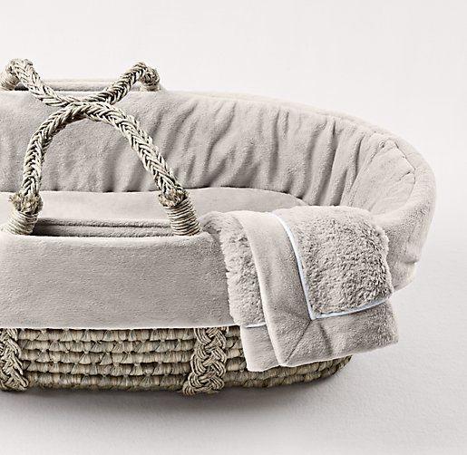 Cuddle Plush Moses Basket Bedding | Moses Basket Bedding | Restoration Hardware Baby & Child