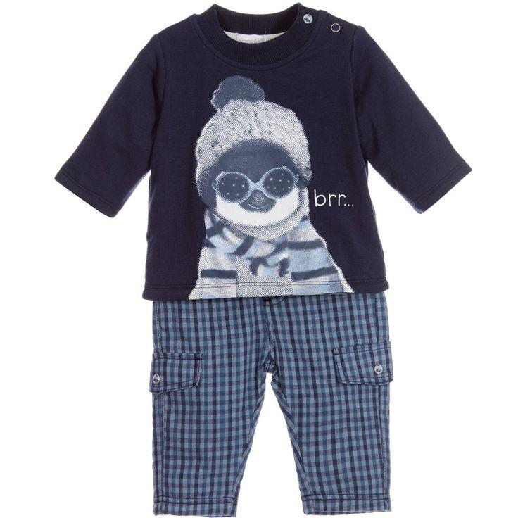 ABSORBA Baby Boys Blue Top & Trousers Set