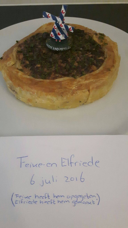Quiche met Friese droge worst ala Feike-en Elfriede - Powered by @ultimaterecipe