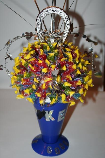 Megaphone candy bouquet   Cheer   Pinterest   Cheerleading ...