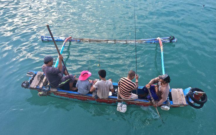 Going fishing on Jimbaran Bay, Bali.