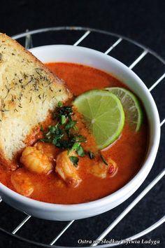 curry z krewetkami , czerwone curry , kuchnia tajska , danie orientalne , krewetki przepis , ostra na slodko (3)xx