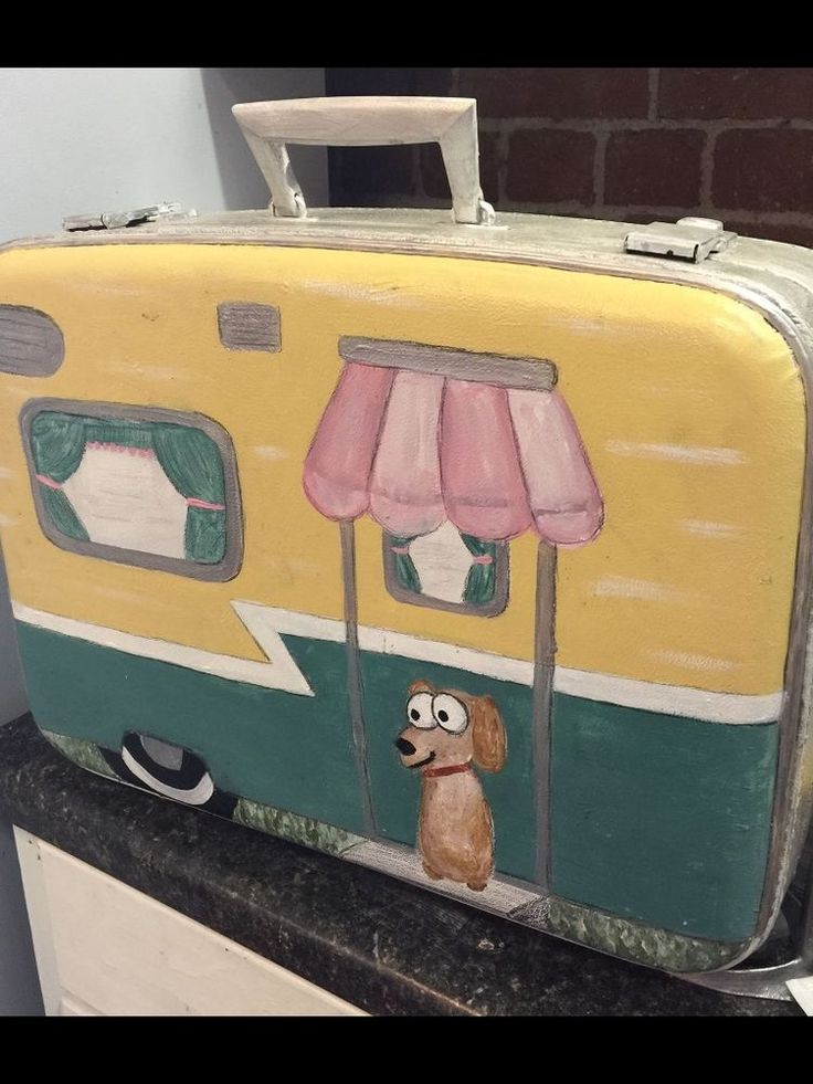 CUSTOM MADE VINTAGE SUITCASE TO MATCH YOUR CAMPER glamping glamper