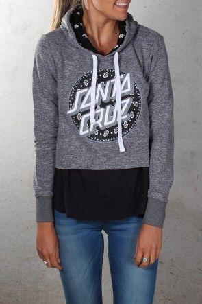 Santa Cruz - Paisley Girls Crop Hood $69.95 Shop Via ll http://www.jeanjail.com.au/ladies/santa-cruz-paisley-girls-crop-hood-grey-heather.html
