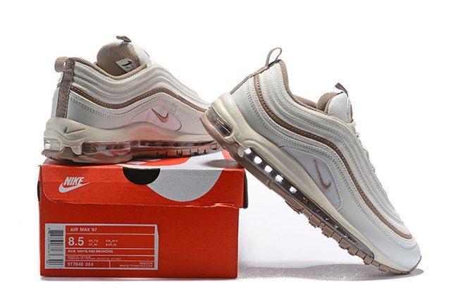 a019c4bab08a Nike Air Max 97 Premium Men s Running Shoes Rice White Brown ...