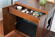 Modern Wood Cat Litter Box Furniture that matches your homes' decor. A cat litter box with style.