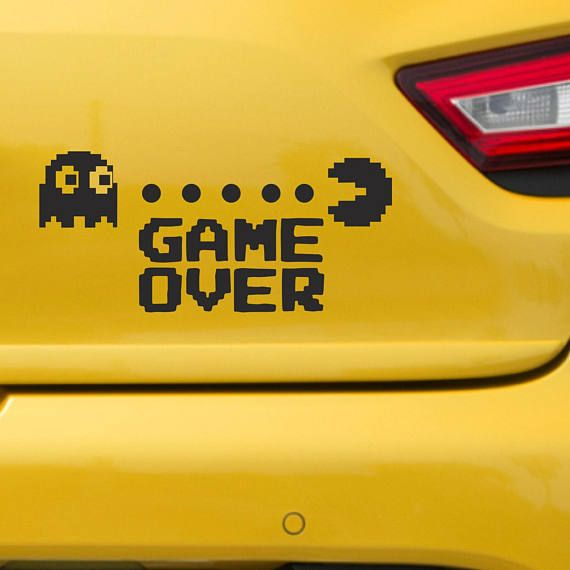 Pacman Car sticker Games stickers Pacman Ghost car vinyl