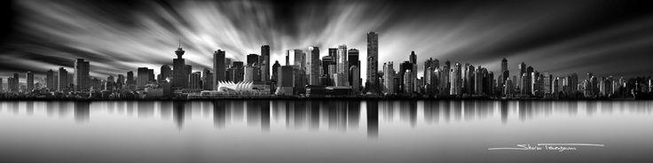 Vancouver Skyline Long Exposure Pano Ratio by Sharon Tenenbaum on 500px